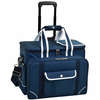 Picnic at Ascot Ultimate Picnic Cooler for 4 on Wheels Navy