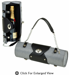 Picnic at Ascot  Wine Carrier and Purse  Houndstooth