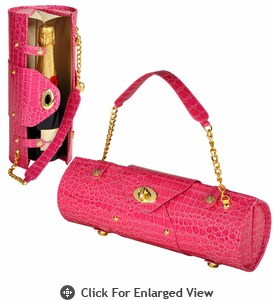 Picnic at Ascot  Wine Carrier and Purse  Pink