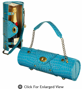 Picnic at Ascot  Wine Carrier and Purse  Turquoise