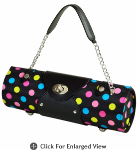 Picnic at Ascot Wine Carrier Purse Black Julia Dot