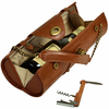 Picnic at Ascot Wine Carrier Purse Brown
