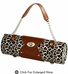 Picnic at Ascot Wine Carrier Purse Giraffe