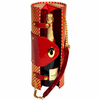 Picnic at Ascot Wine Carrier Purse Gold/ Red