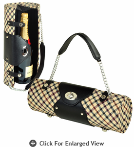 Picnic at Ascot Wine Carrier Purse London Plaid