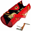 Picnic at Ascot Wine Carrier Purse Red Croc