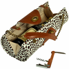 Picnic at Ascot Wine Carrier Purse Snow Leopard