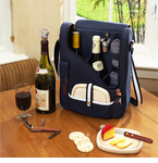 Picnic at Ascot  Wine Cheese  Cooler Bag w/ Glasses for 2