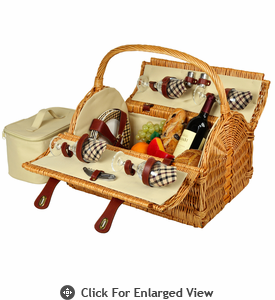 Picnic at Ascot Yorkshire Picnic Basket for 4 London Plaid