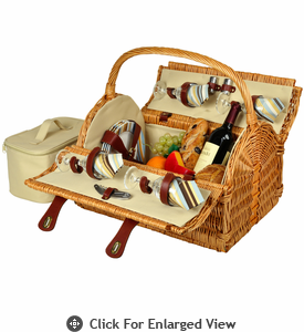 Picnic at Ascot Yorkshire Picnic Basket for 4 Santa Cruz