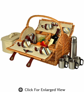 Picnic at Ascot Yorkshire Picnic Basket for 4  w/  Coffee Santa Cruz