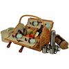 Picnic at Ascot  Yorkshire Picnic Basket  With Blanket and Coffee  for Four