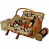 Picnic at Ascot  Yorkshire Picnic Basket  With Blanket  for Four