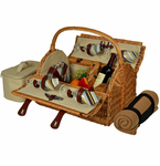 Picnic at Ascot  Yorkshire  Picnic Basket for 4  w/ Blanket