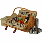 Picnic at Ascot   Yorkshire Picnic Basket   With Coffee   for Four
