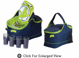 Picnic Plus Arista 4 Person Picnic Tote Navy