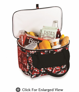 Picnic Plus Avanti Cooler Tote  Red Carnation