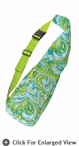 Picnic Plus Bottle Sling Green Paisley