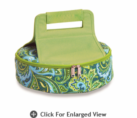 Picnic Plus Cake 'n Carry  Green Paisley