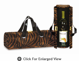 Picnic Plus Carlotta Clutch Wine Bottle Clutch  Brown Tiger