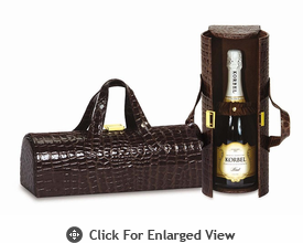 Picnic Plus Carlotta Clutch Wine Bottle Clutch  Chocolate Croc