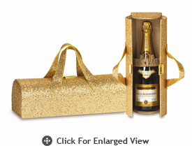 Picnic Plus Carlotta Clutch Wine Bottle Clutch  Glitter Gold