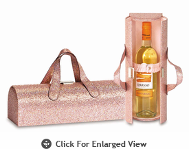 Picnic Plus Carlotta Clutch Wine Bottle Clutch  Glitter Pink