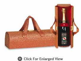 Picnic Plus Carlotta Clutch Wine Bottle Clutch  Glitter Red