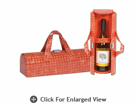 Picnic Plus Carlotta Clutch Wine Bottle Clutch  Houndstooth Caramel