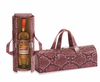 Picnic Plus Carlotta Clutch Wine Bottle Clutch  Pink Snake