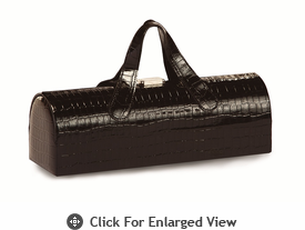 Picnic Plus Carlotta Wine Bottle Clutch Black Croc