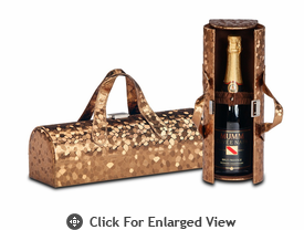Picnic Plus Carlotta Wine Bottle Clutch Copper Mosaic