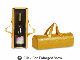 Picnic Plus Carlotta Wine Bottle Clutch Maize Maze
