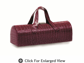 Picnic Plus Carlotta Wine Bottle Clutch Purple Croc