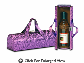 Picnic Plus Carlotta Wine Bottle Clutch Purple Mosaic