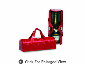 Picnic Plus Carlotta Wine Bottle Clutch Ruby Swirl