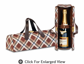 Picnic Plus Carlotta  Wine Bottle Clutch Saddle Plaid