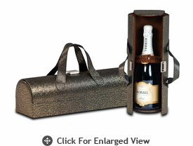 Picnic Plus Carlotta Wine Bottle Clutch Tooled Gold