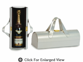 Picnic Plus Carlotta Wine Bottle Clutch White/Gold