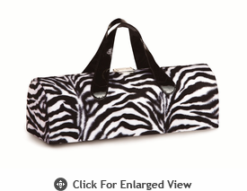 Picnic Plus Carlotta Wine Bottle Clutch Zebra Fur