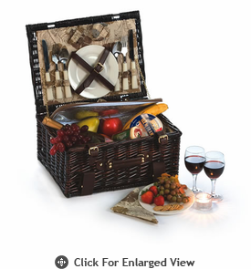 Picnic Plus Copley 2 Person Picnic Basket Brown Willow Out of Stock until 11/14/13