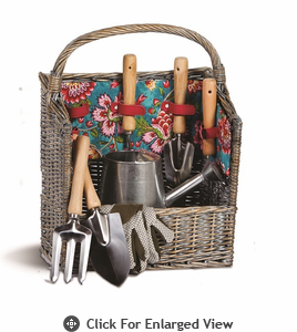 Picnic Plus Countryside Garden Basket  Madeline Turquoise
