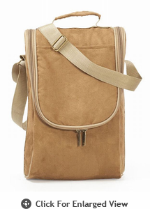 Picnic Plus Double Bottle Carrier Camel Suede