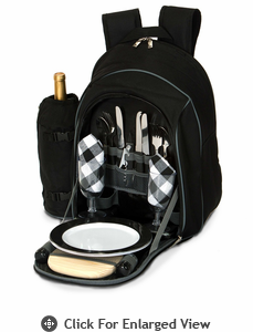 Picnic Plus Endeavor 2 Person Picnic Backpack Black