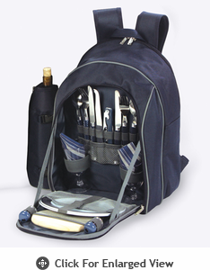 Picnic Plus Endeavor 2 Person Picnic Backpack Navy