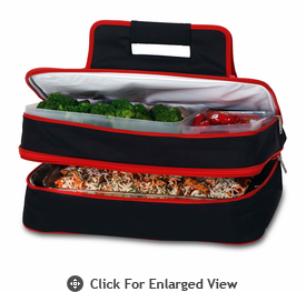 Picnic Plus Entertainer Hot & Cold Food Carrier Black Red