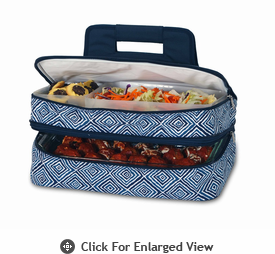 Picnic Plus Entertainer Hot & Cold Food Carrier Blue Diamond