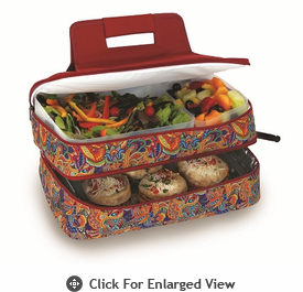Picnic Plus Entertainer Hot & Cold Food Carrier Jewel Paisley