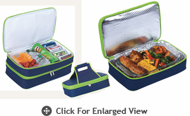 Picnic Plus Entertainer Hot & Cold Food Carrier Navy