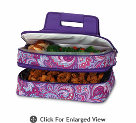 Picnic Plus Entertainer Hot & Cold Food Carrier Purple Envy